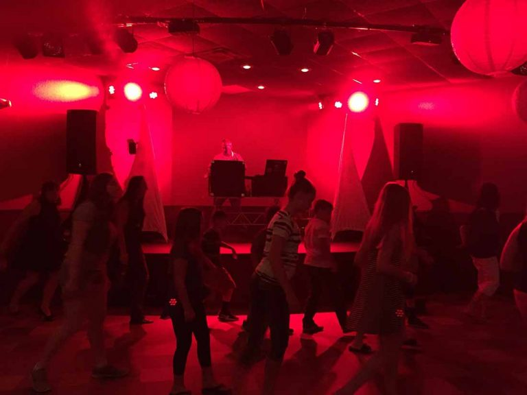 School dance - red lighting