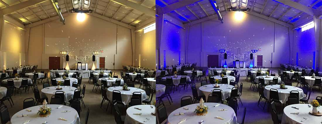 Lighting before and after upgrade