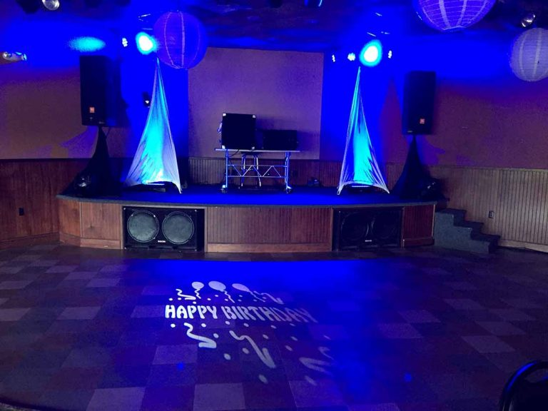 Happy birthday floor spotlight